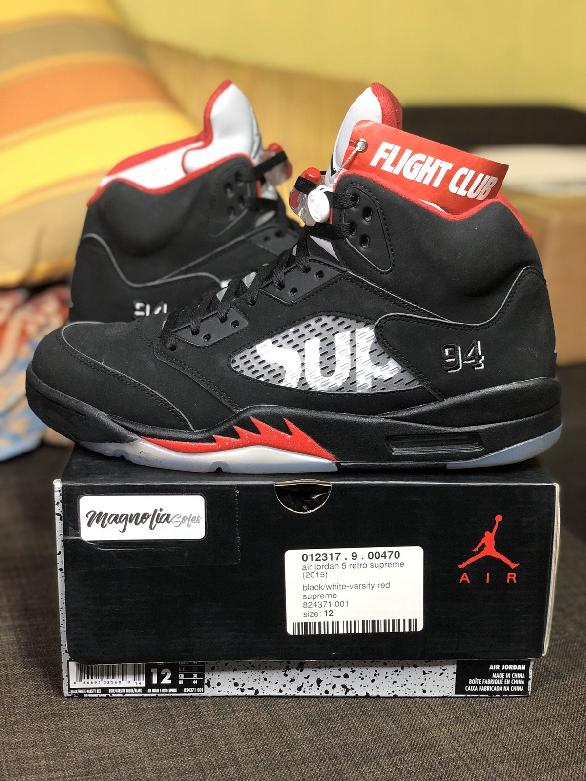 "buy online 4013b 5368b ""Black Supreme"" Nike Air Jordan Retro 5 OG"