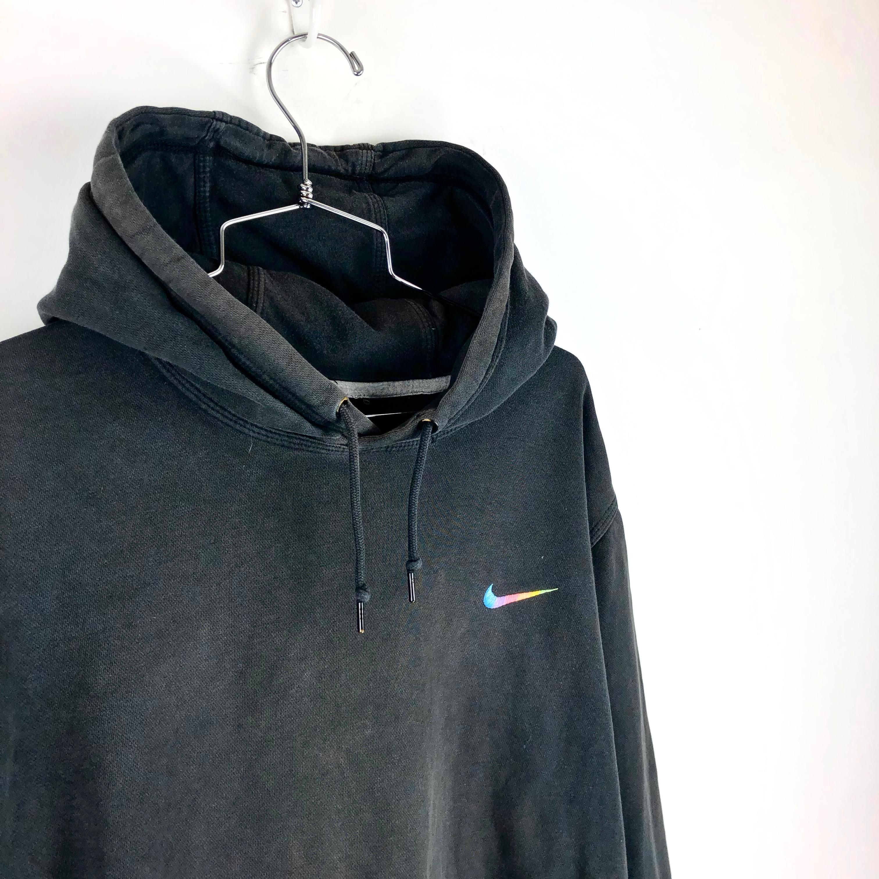 Vintage Nike Hoodie Size XL Custom Swoosh Pullover Apple Mens Black
