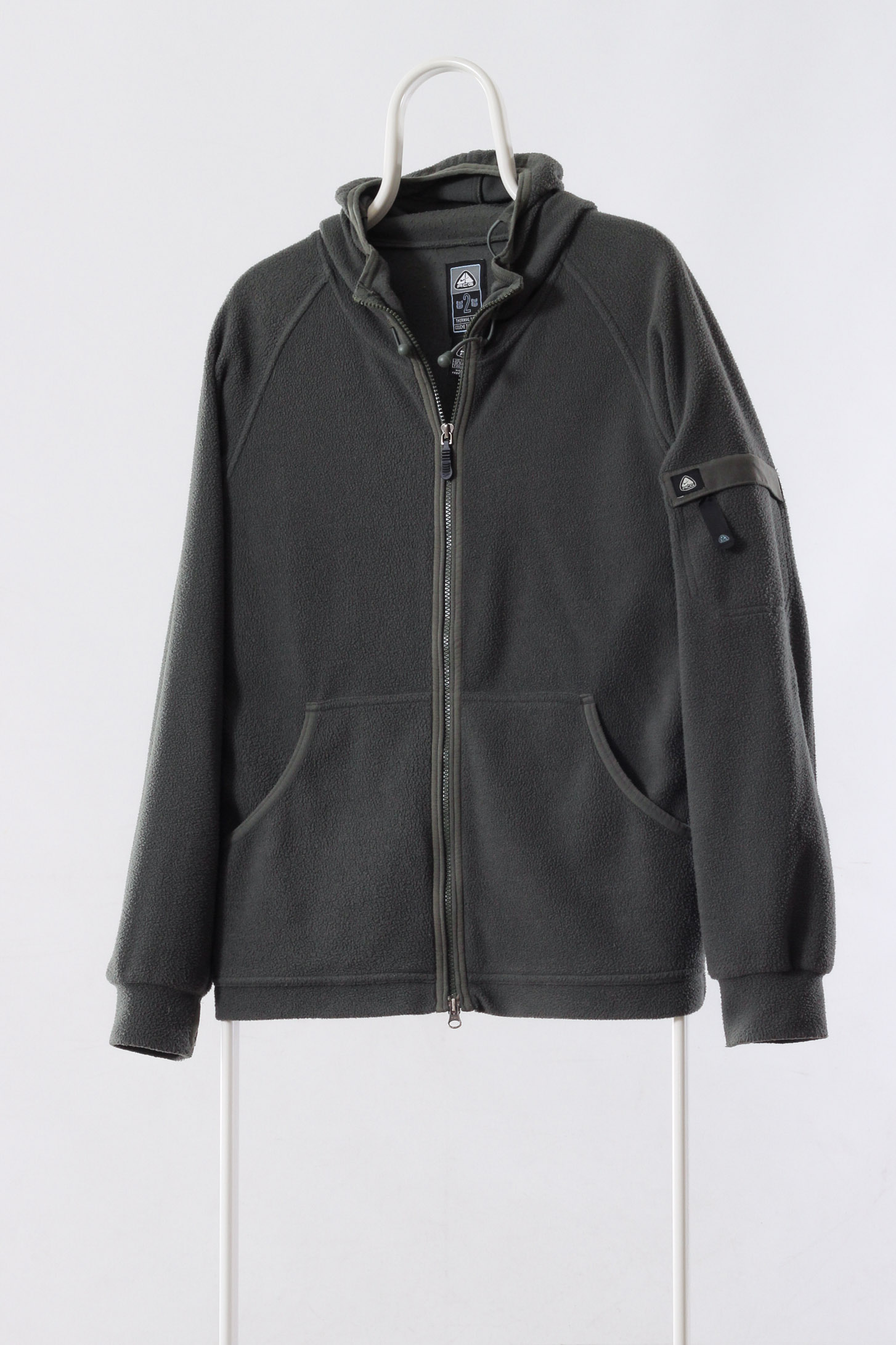 a977db3857b7b A0934FL - Vintage NIKE ACG Fleece Hoodie Jacket Full Zip Green Size S