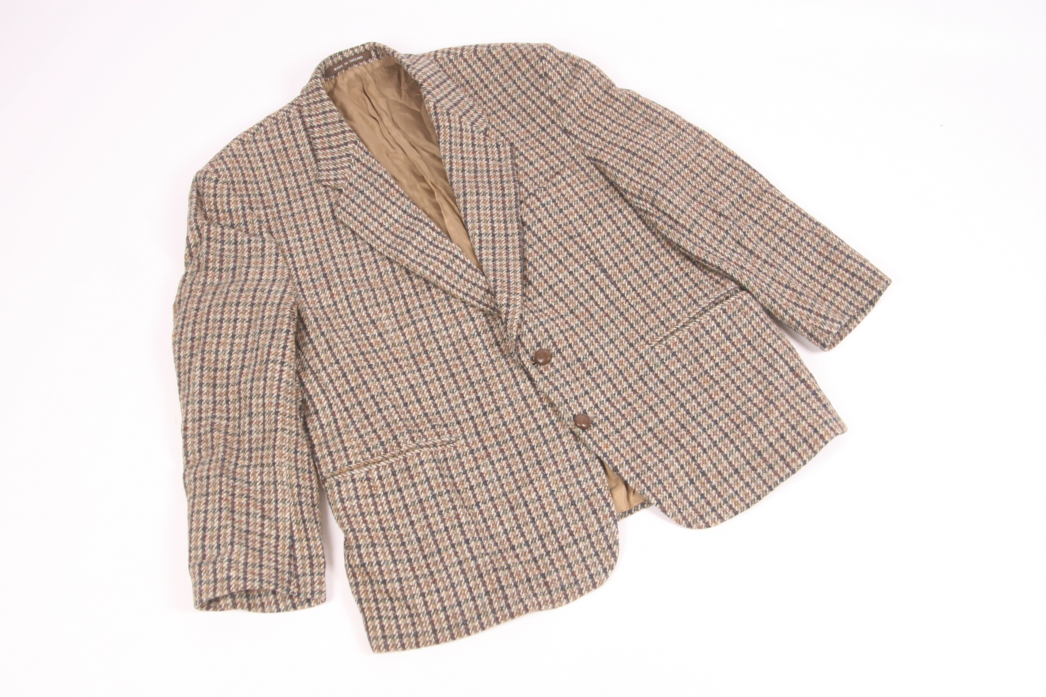 Vintage Austin Reed By Harris Tweed Plaid Check Wool Blazer Coat Grailed