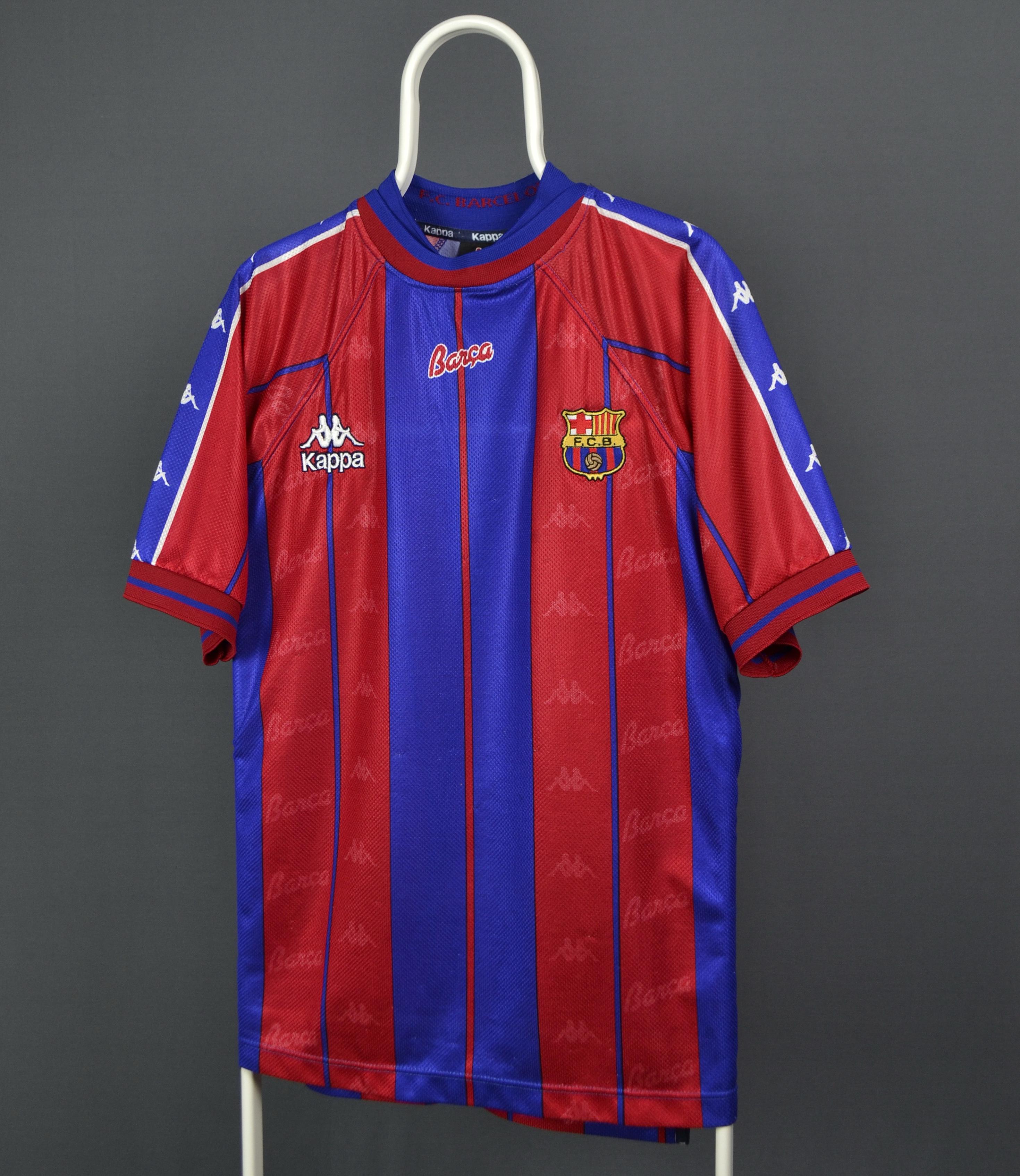 best sneakers d4b64 f01bf 1997/98 Kappa Barca Barcelona Home Jersey Shirt