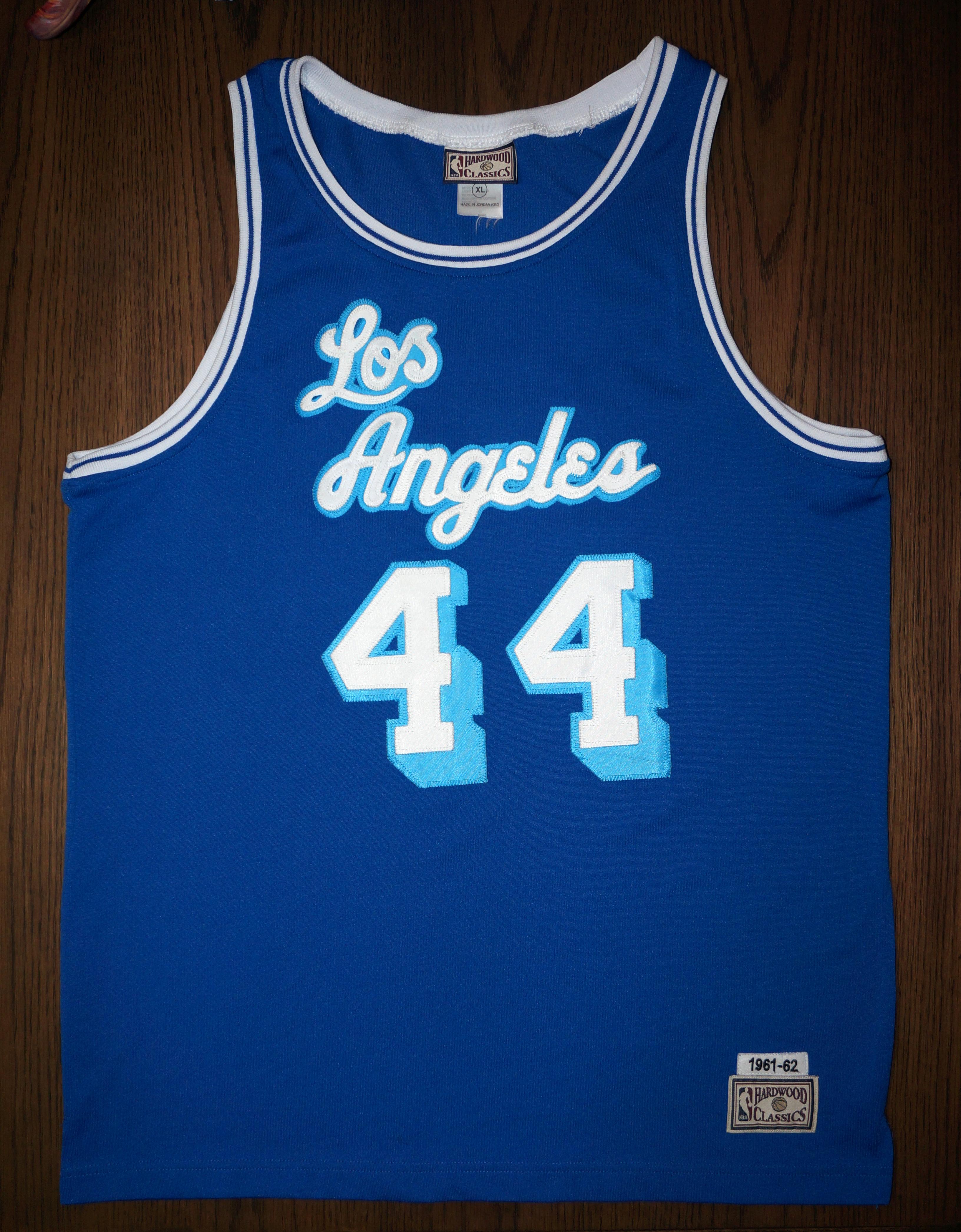 pretty nice b0575 d46ec JERRY WEST LOS ANGELES LAKERS 1961-62 Hardwood Classics Jersey Kobe Shaq