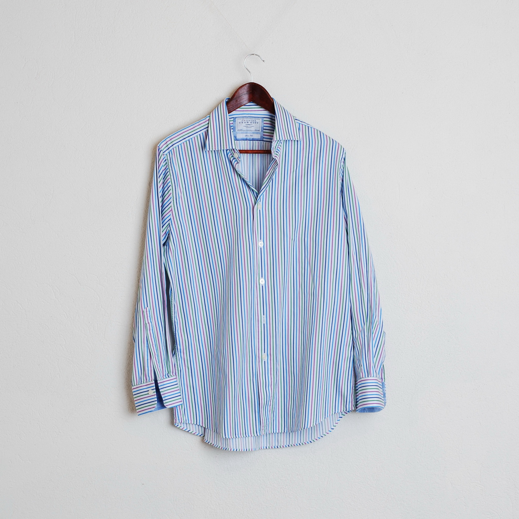 f7ff01a8 Charles Tyrwhitt Charles Tyrwhitt Striped Long Sleeve Casual Shirt ...