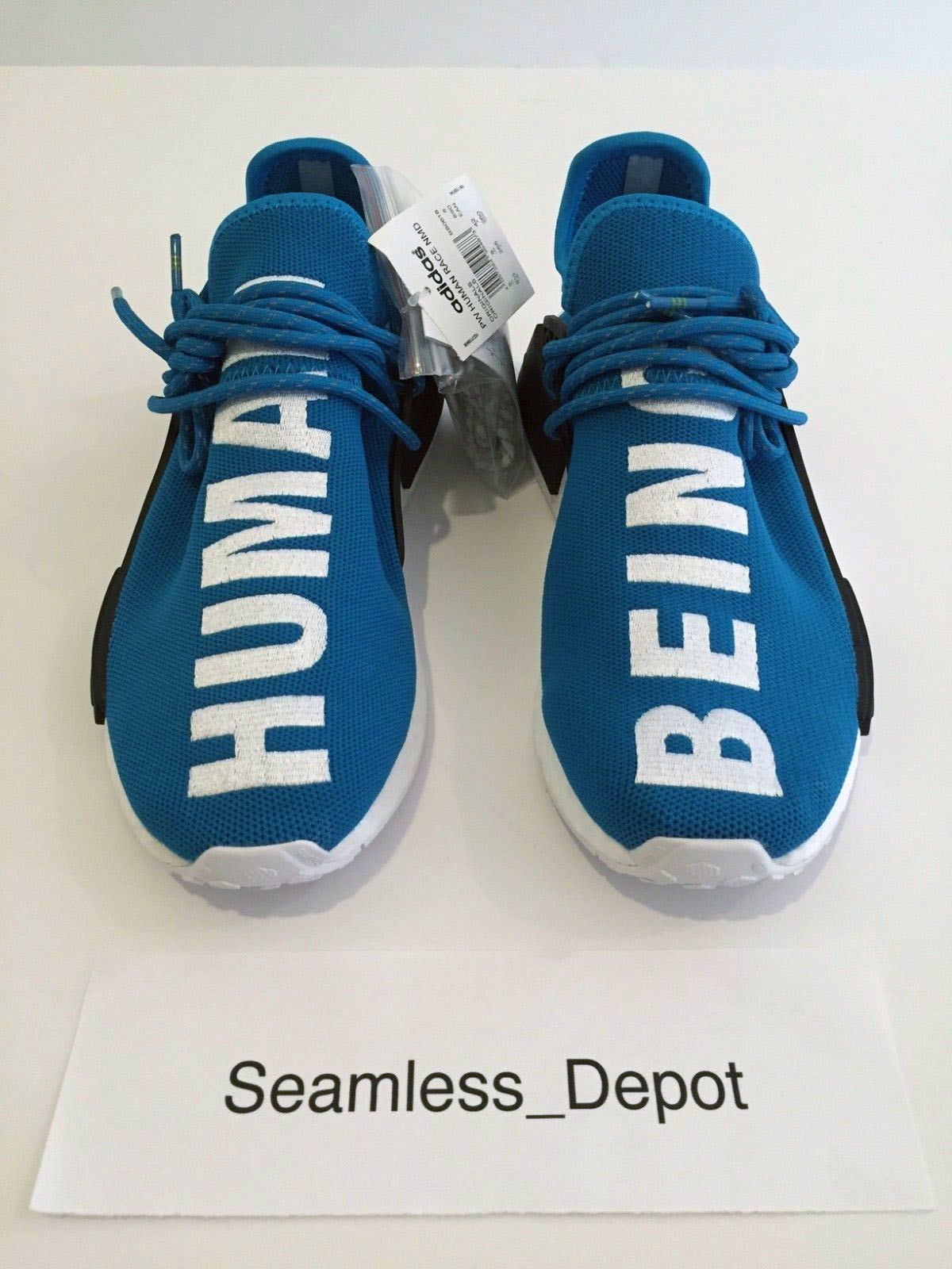 100% authentic 9543c cc7c1 New Limited Adidas x Pharrell HU Human Race NMD Boost Blue Colorway