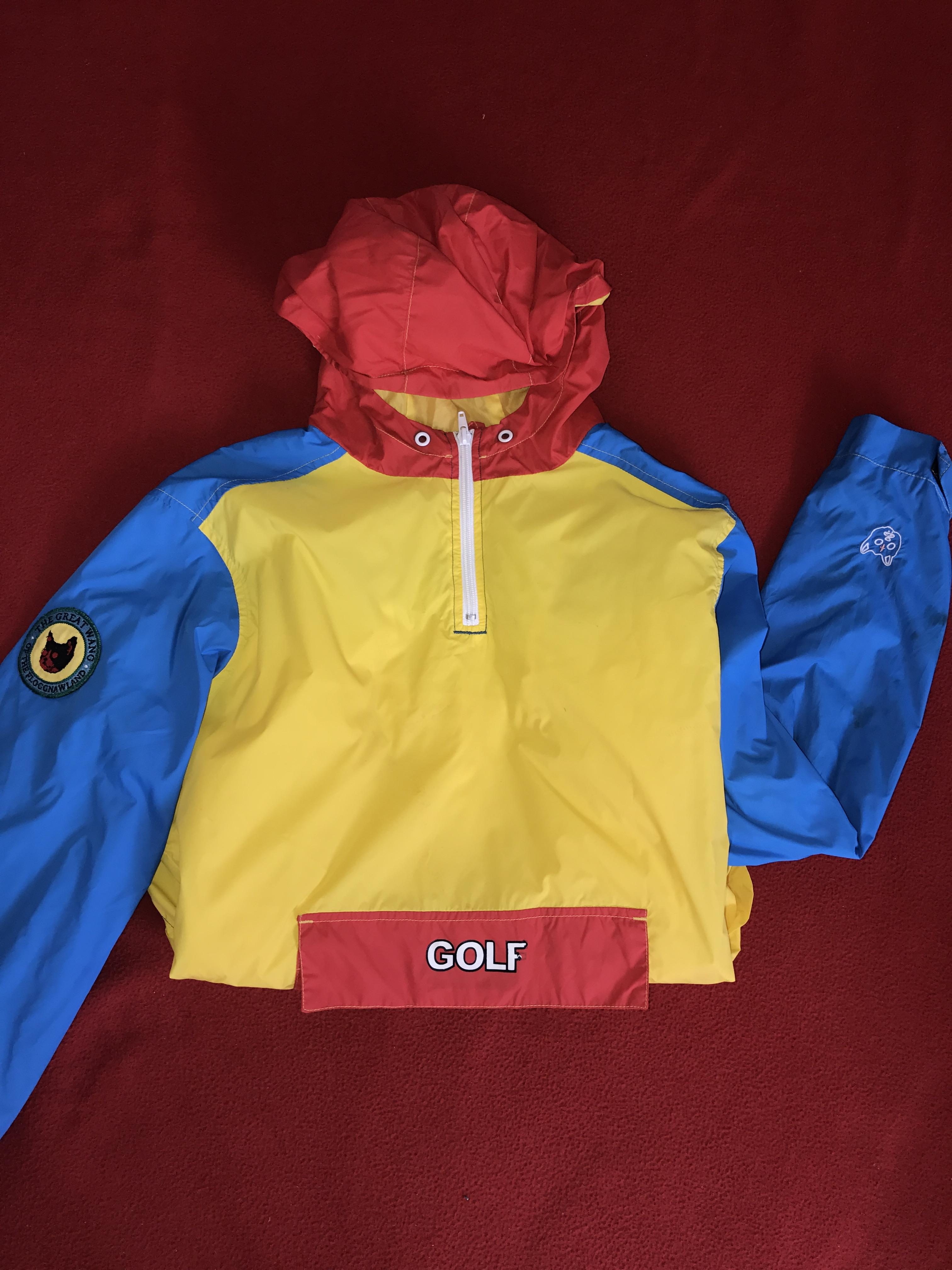 83843e13308b83 Golf Wang Tri Color Windbreaker Size s - Raincoats for Sale - Grailed