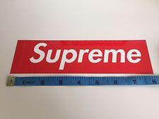 Supreme Box Logo Sticker Size - Just Me And Supreme
