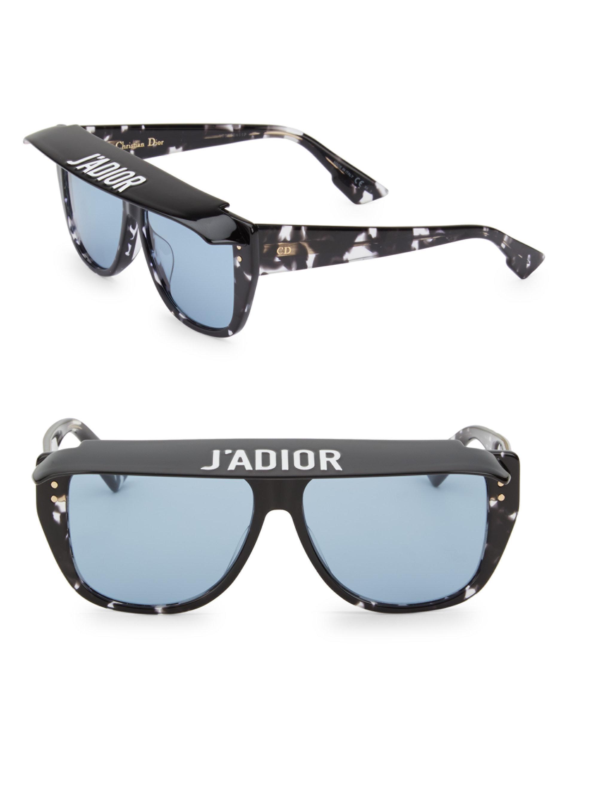 6dd9b19f94 Dior New Dior Club 2 Black Havana Blue Lens Visor Sunglasses