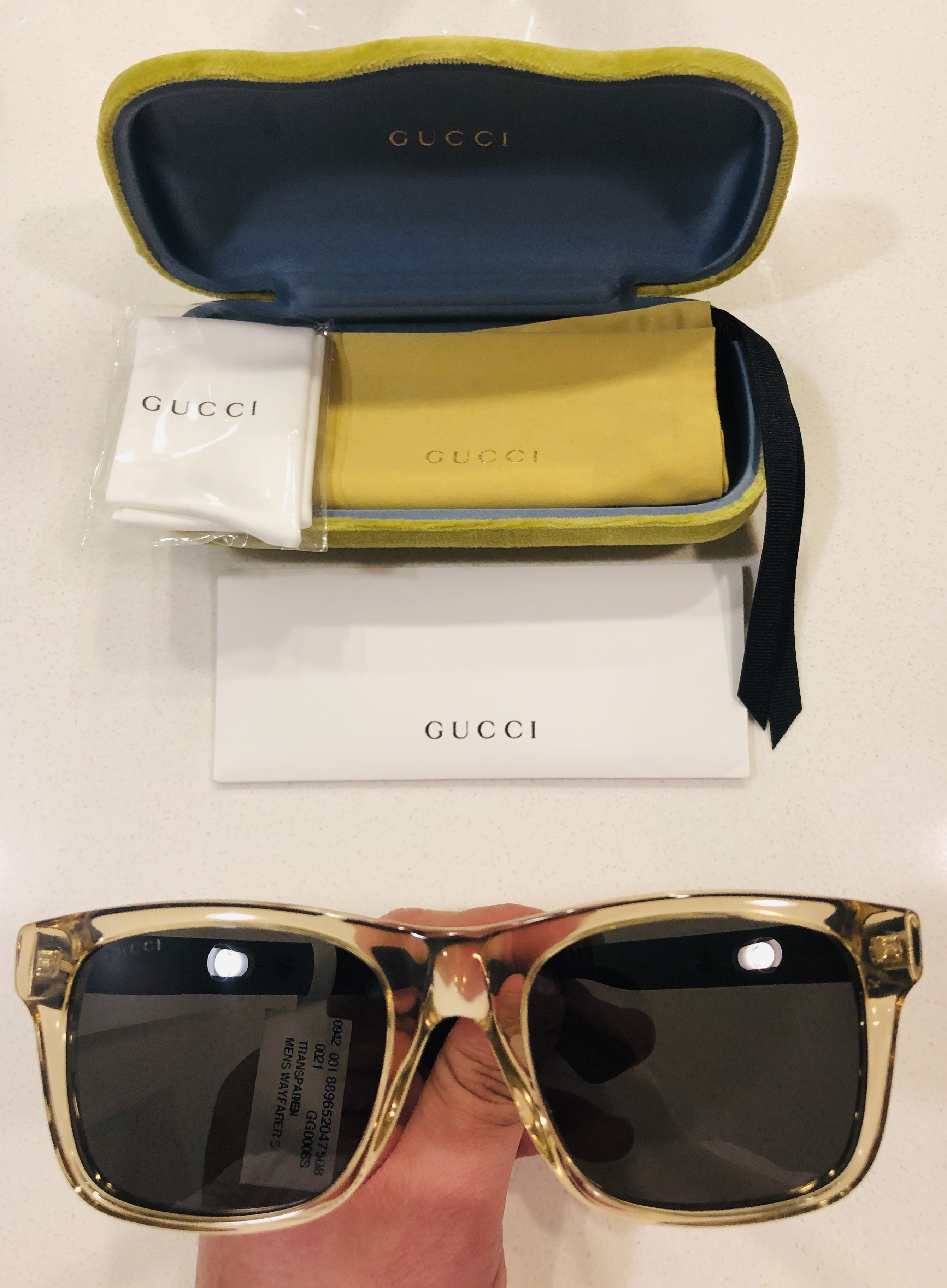 b892d9779bb Gucci New Gucci Sunglasses Gg0008s 005 Transparent Brown Frames ...