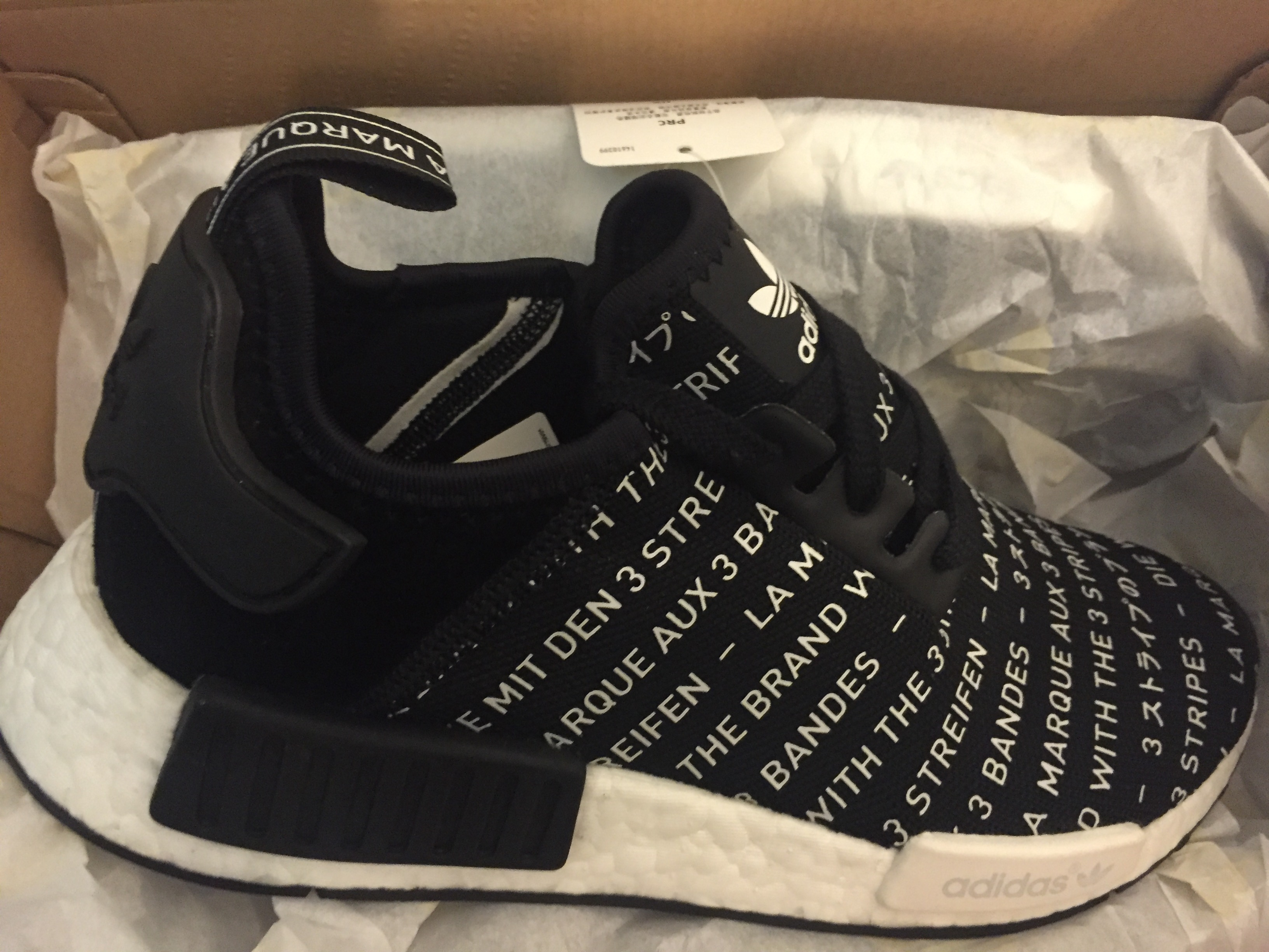 652f0d432 Adidas Nmd R1 Blackout Whiteout Pack Black Size 7