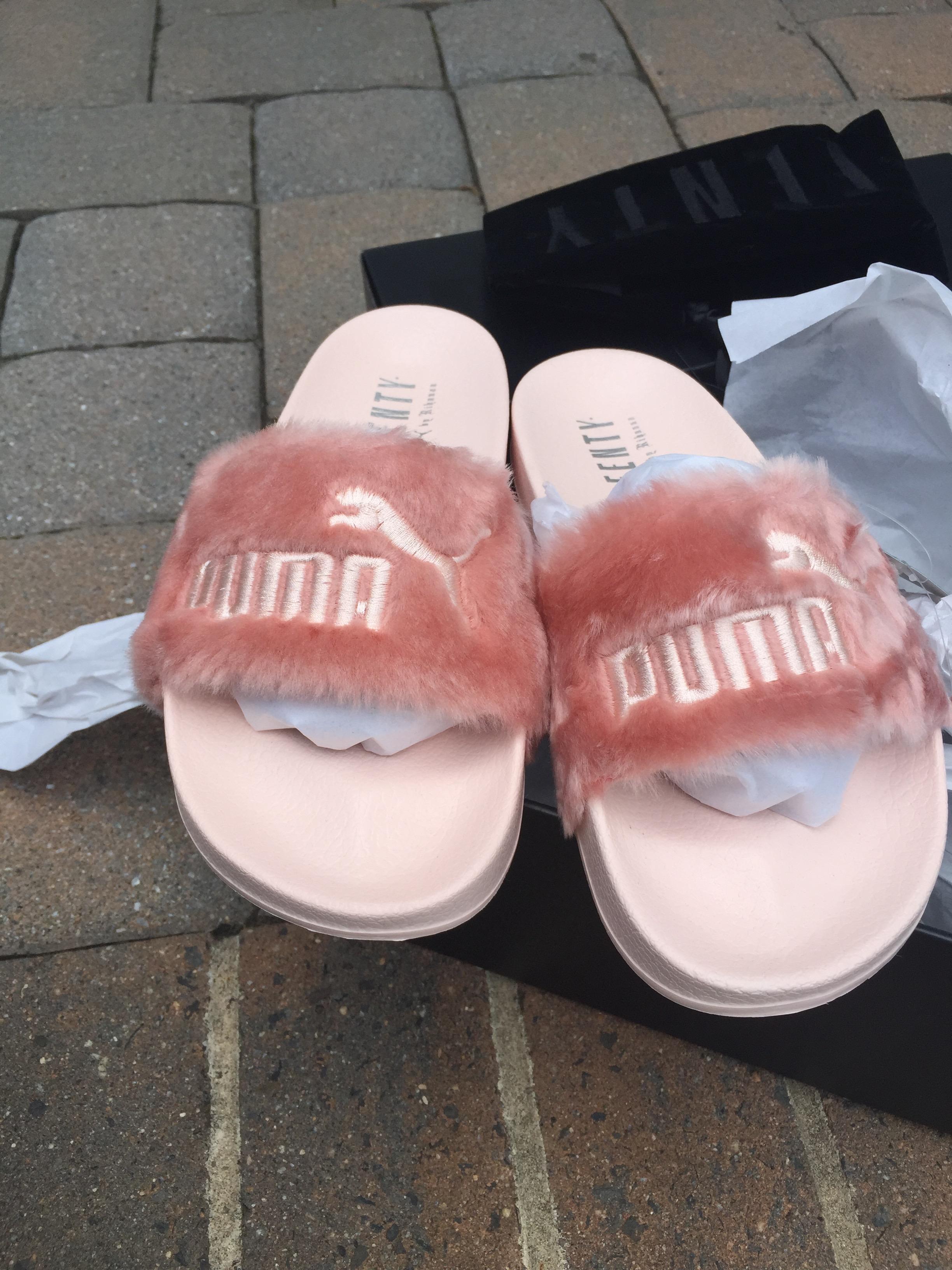 a4ff91adb115 Puma X Rihanna × Fur Slide By Fenty Womens Sandals. Puma Fenty Slippers