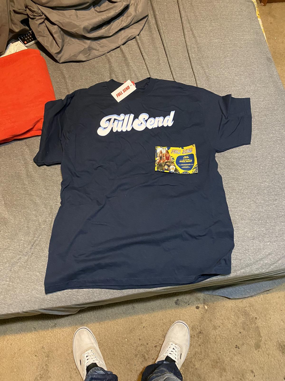 Full send Nelk boys Navy blue t. Shirt