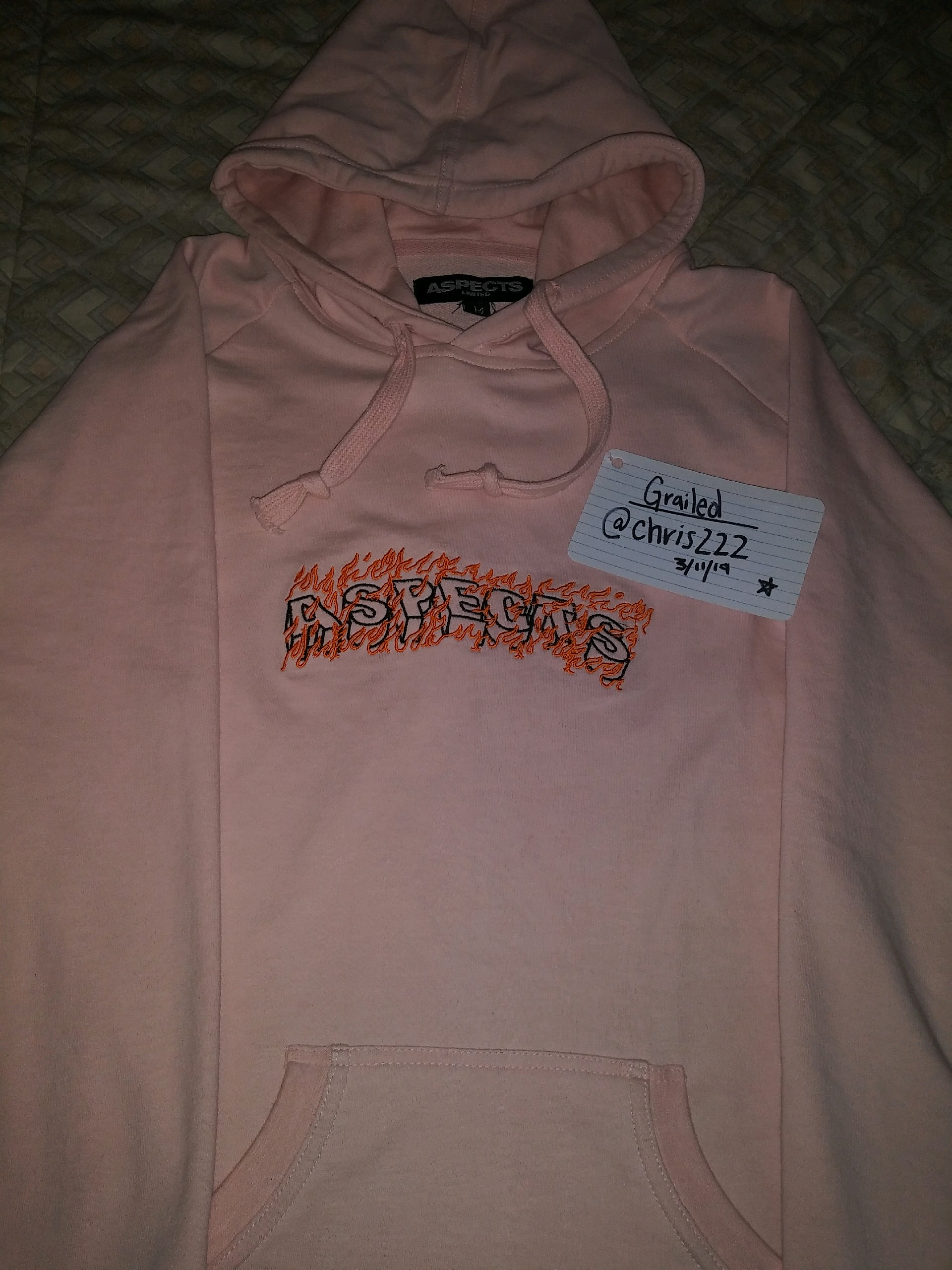 latest fashion hot product quality Revenge Pink Aspects Hoodie | Grailed
