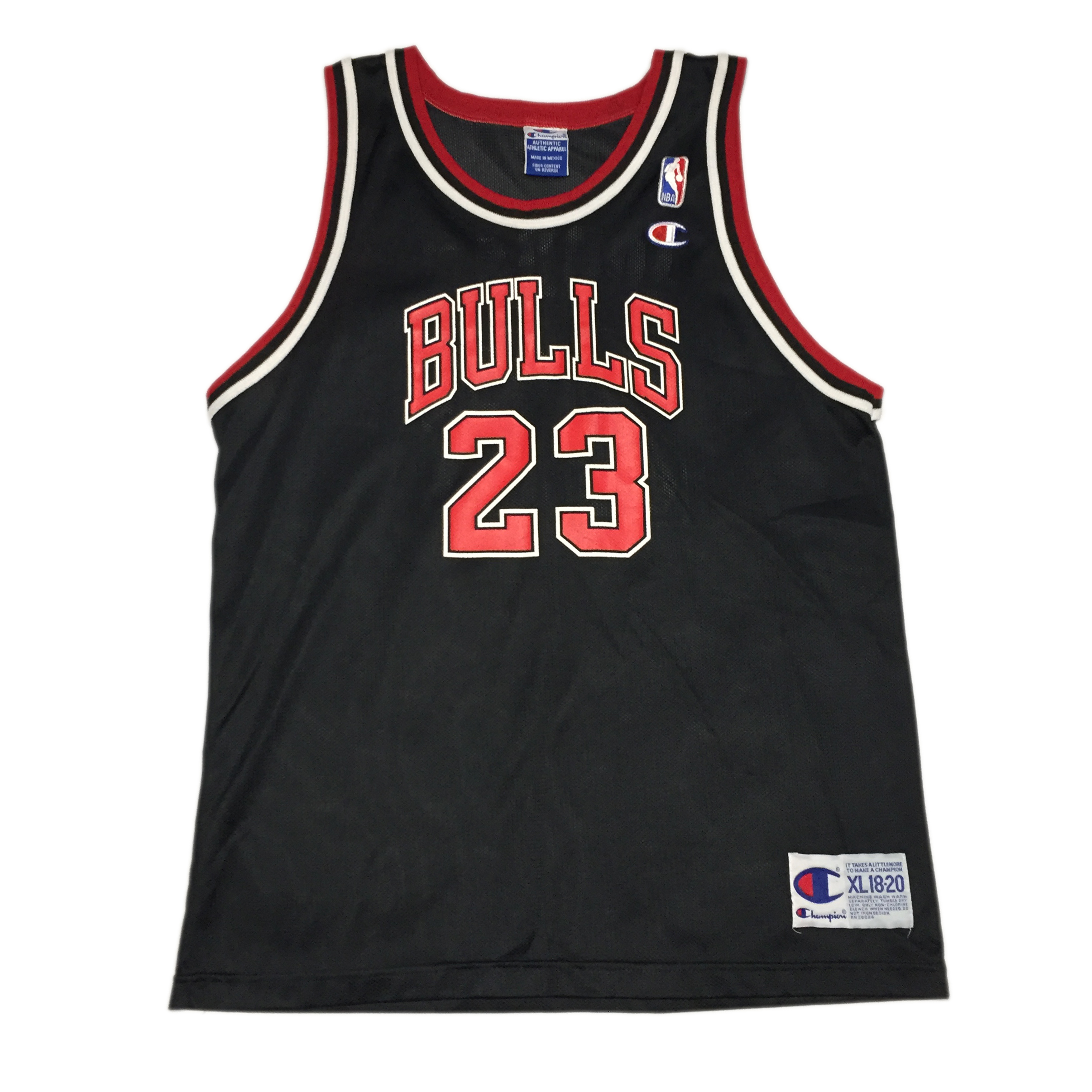 the best attitude f4de0 c1f81 VINTAGE CHAMPION MICHAEL JORDAN MJ 23 CHICAGO BULLS JERSEY IN BLACK
