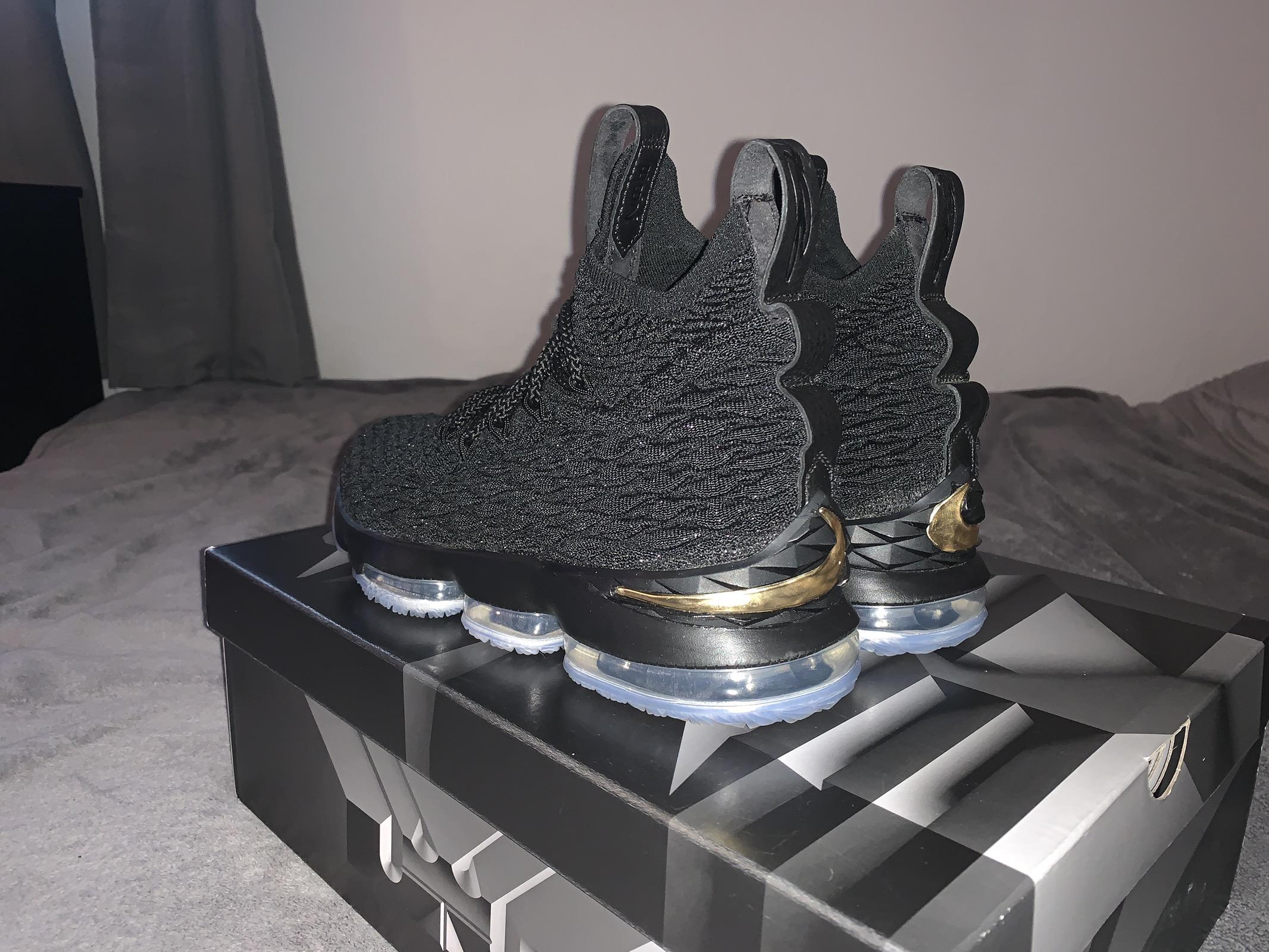 da2599a94f9 Nike LeBron 15 Black  Gold Size 11 - Hi-Top Sneakers for Sale - Grailed