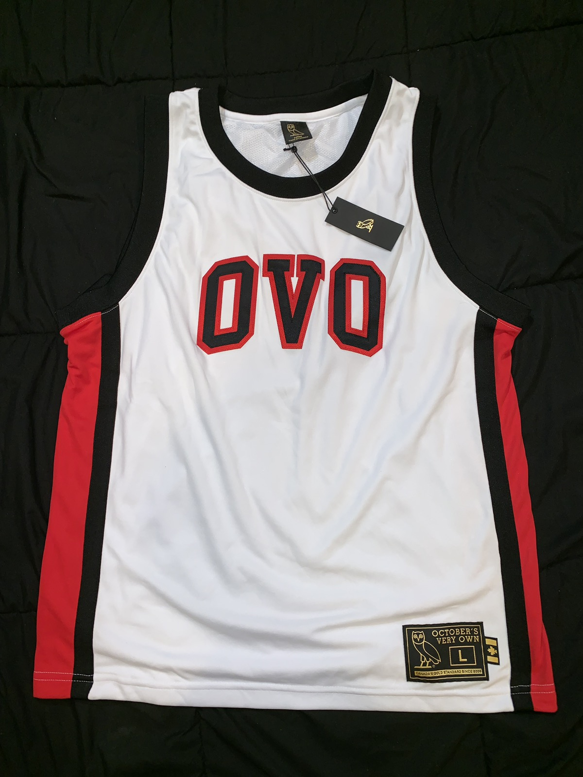 White/Red OVO Jersey Large