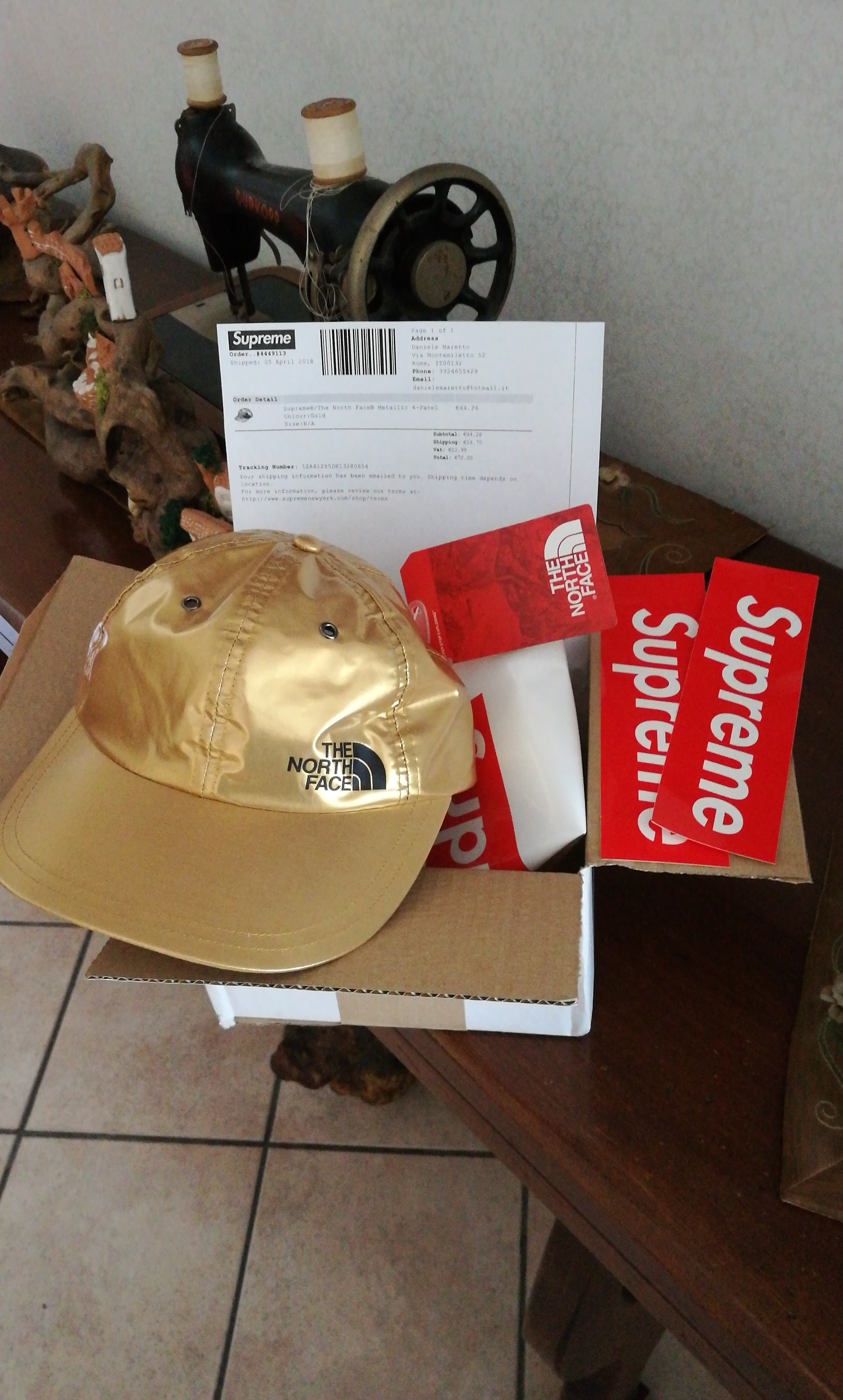 37ab29122 Supreme X The North Face Gold 6-panel Hat Cap SS18