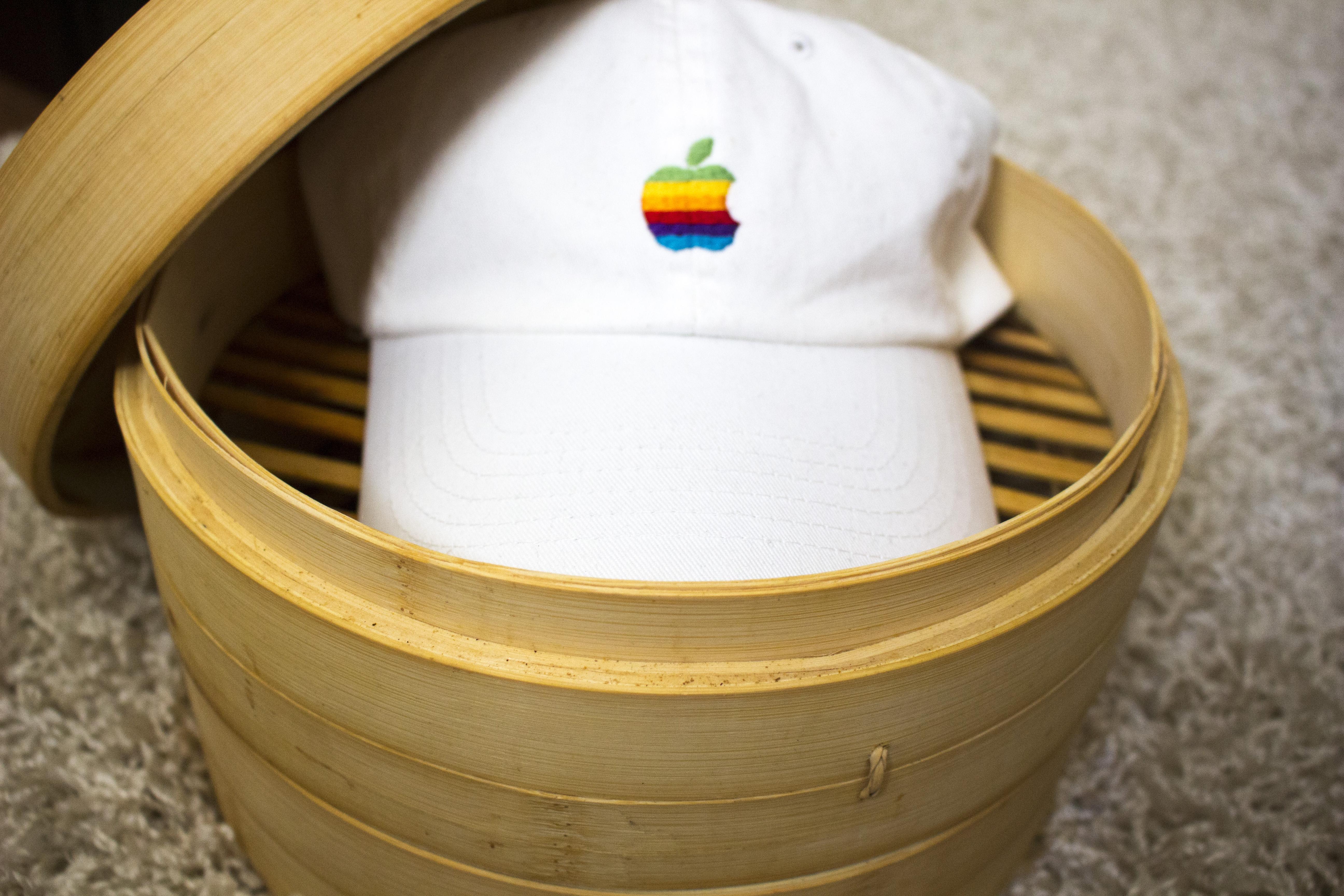 18d15015 Apple Vintage Apple Logo Dad Hat | Grailed