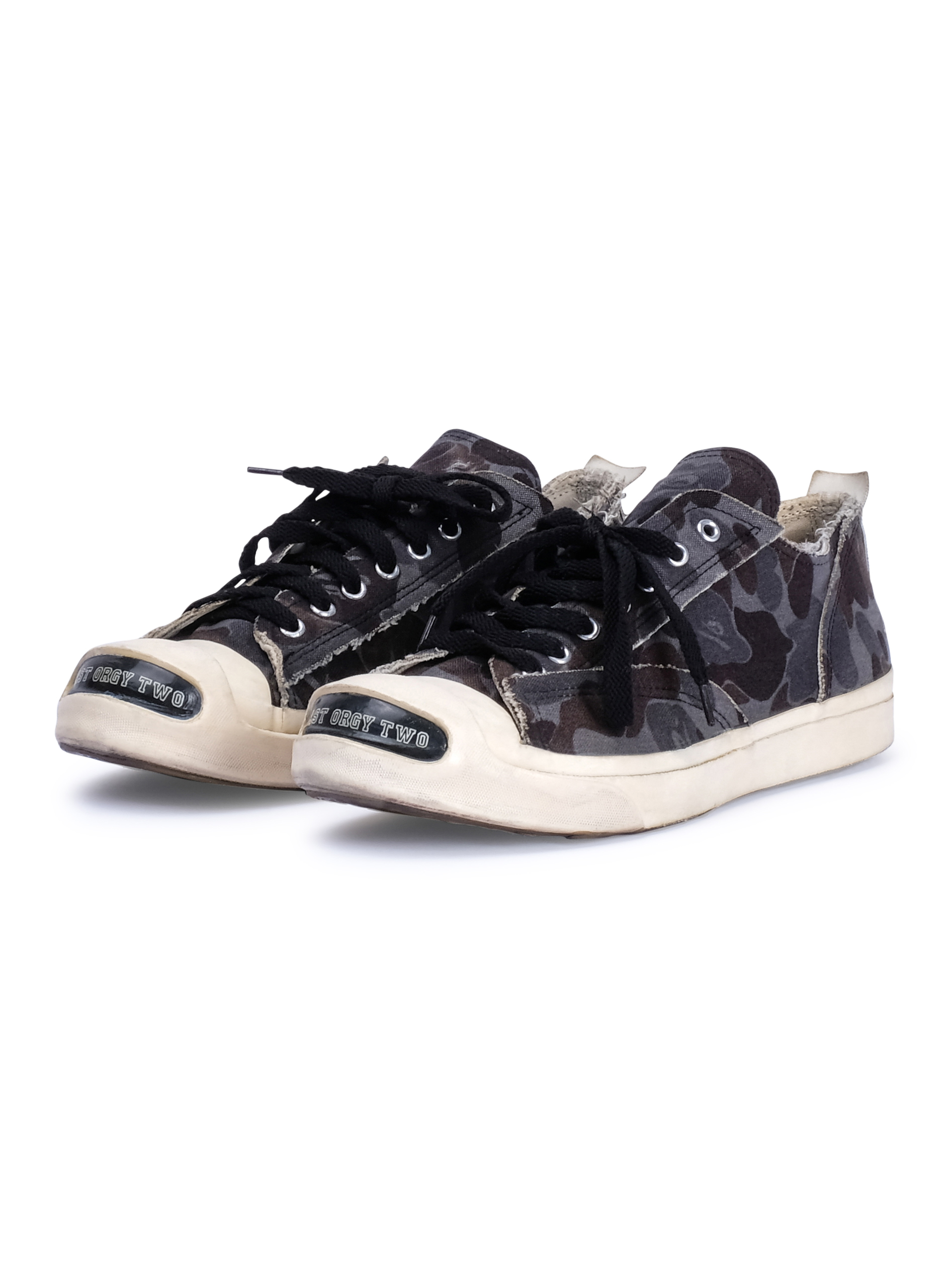 """buy online 8654c 92ff7 Undercover × Bape ×. """"Last Orgy Two"""" Camo Low Top Sneakers"""