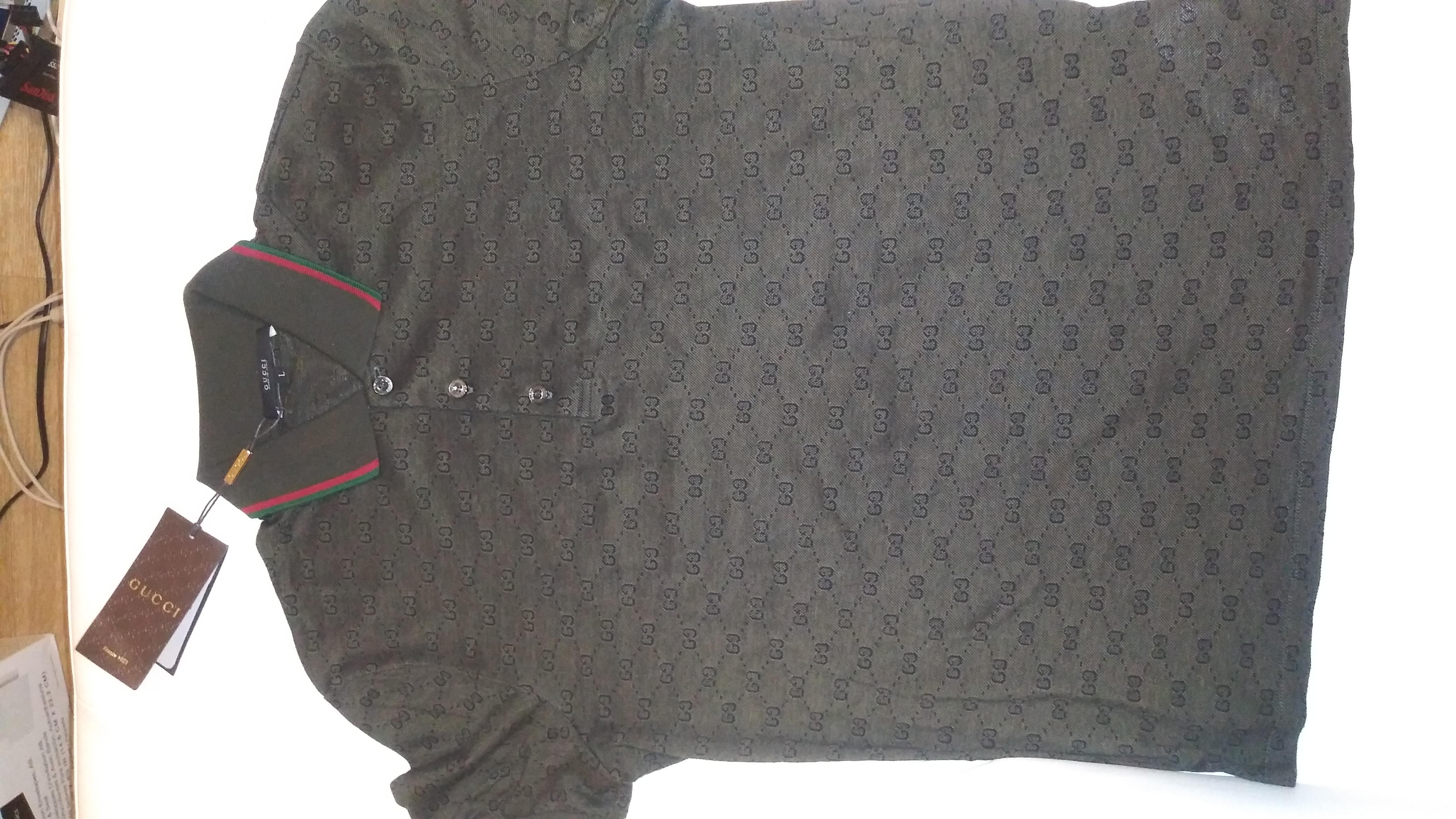0c3dc1901ca Gucci Gucci Military Green Gg Jacquard Polo Shirt Nwt