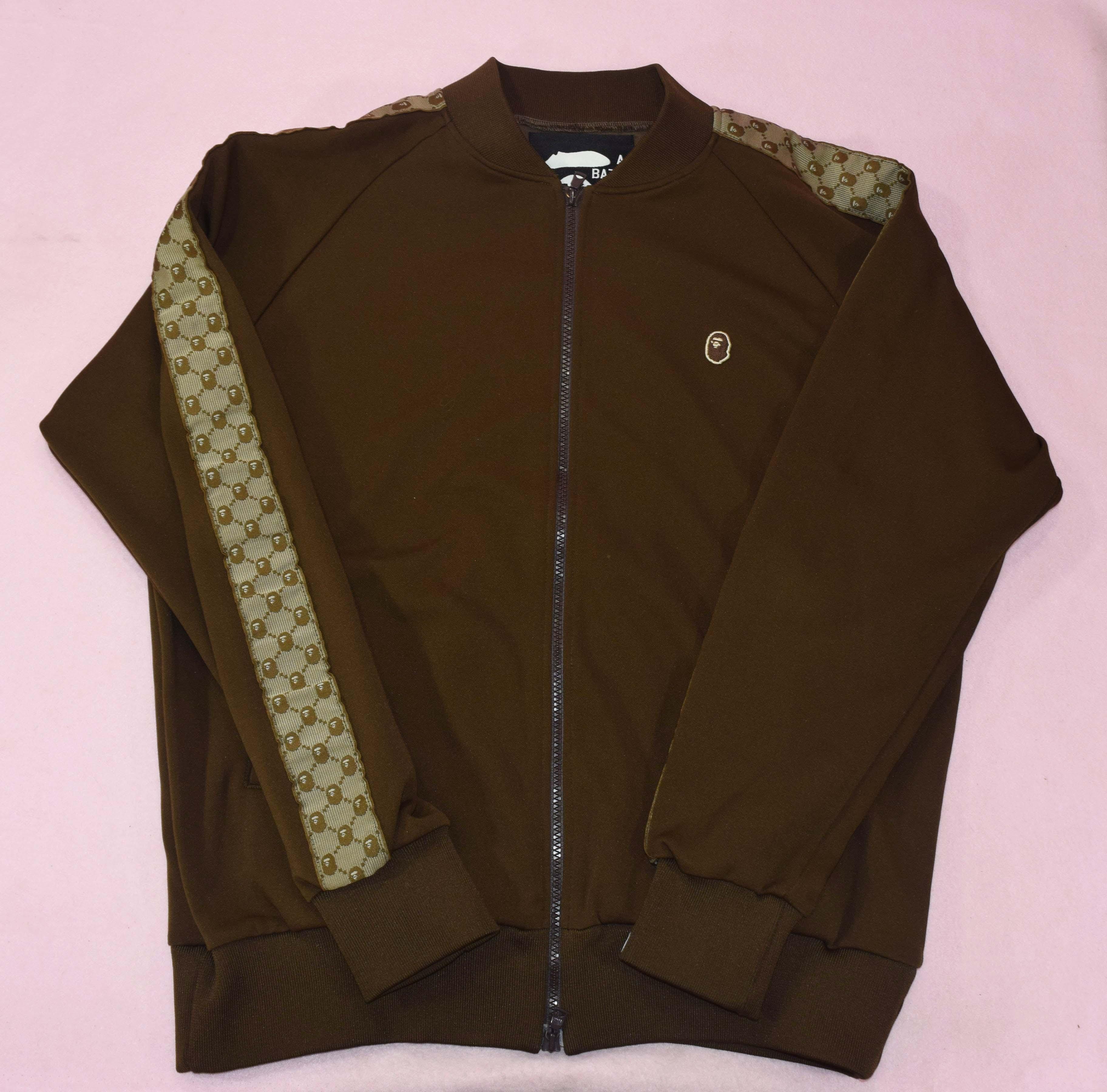 e74a92d85 Bape Og Bape 'gucci Inspired' Ape Head Monogram Track Jacket Brown Size M |  Grailed