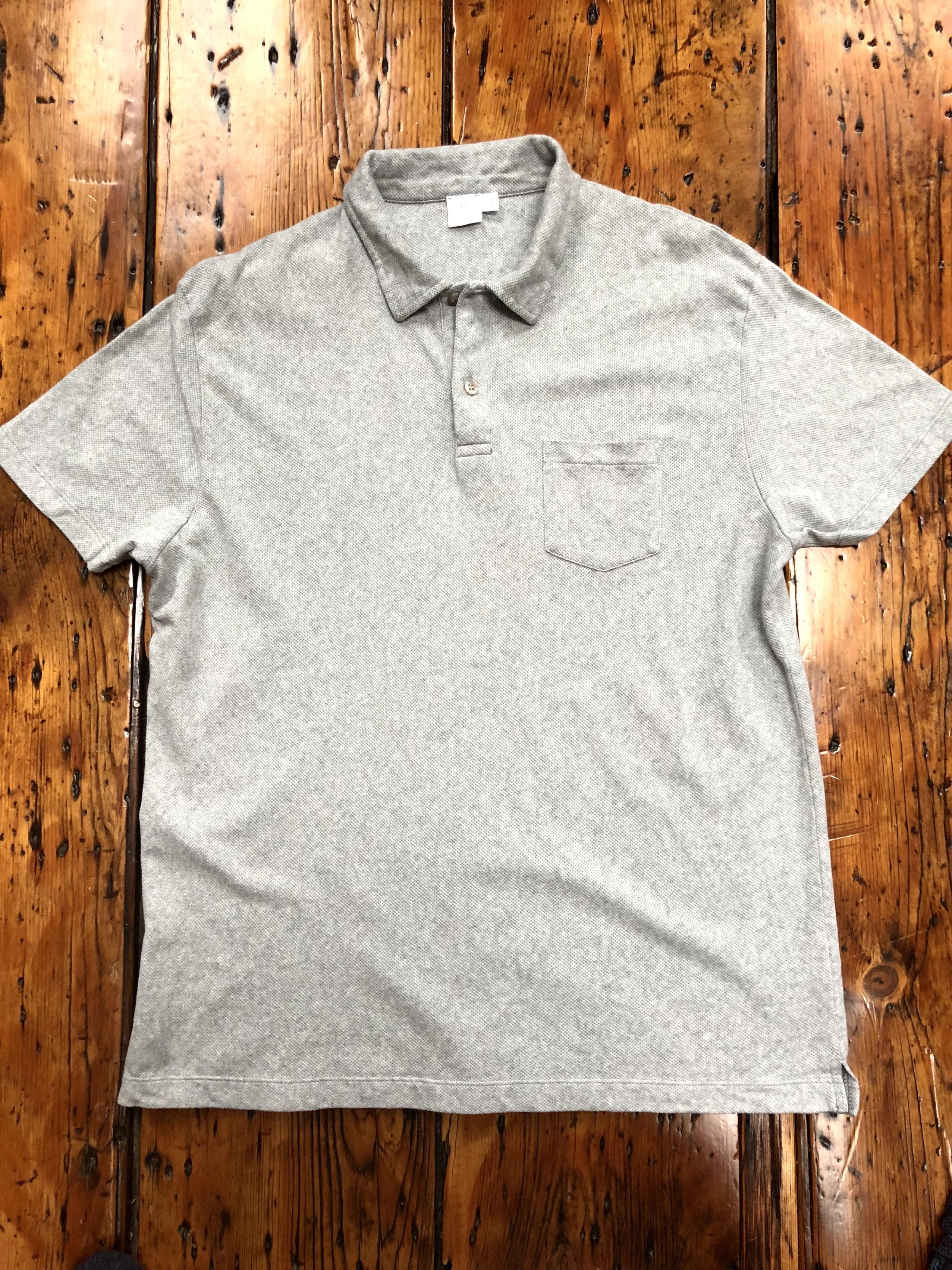 ed3c0d45 Sunspel Men's Combed Cotton Riviera Polo Shirt In Grey Melange   Grailed