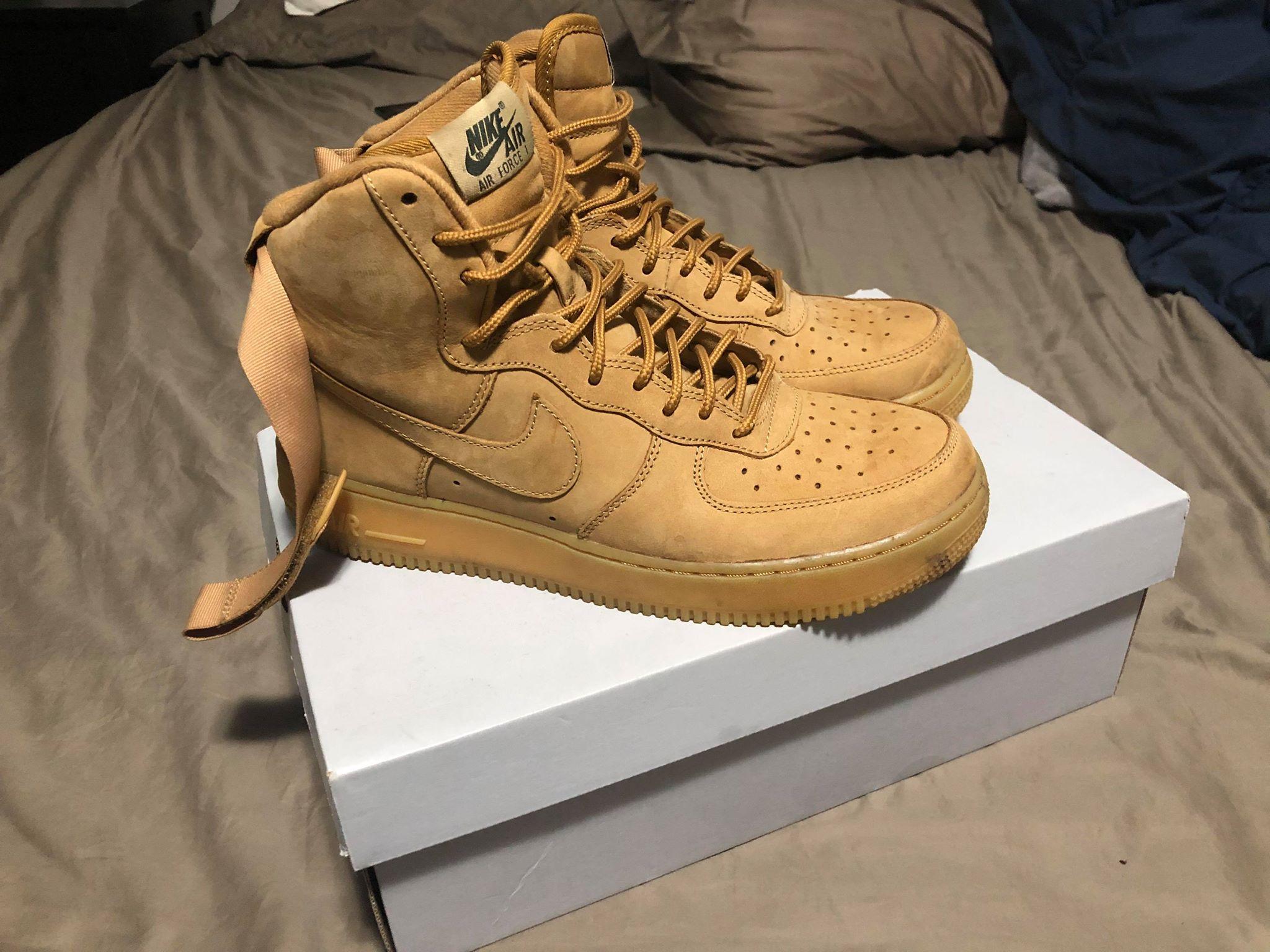Cementerio Soportar fenómeno  Nike Nike Af1 Air Force 1 High Wheat Flax | Grailed