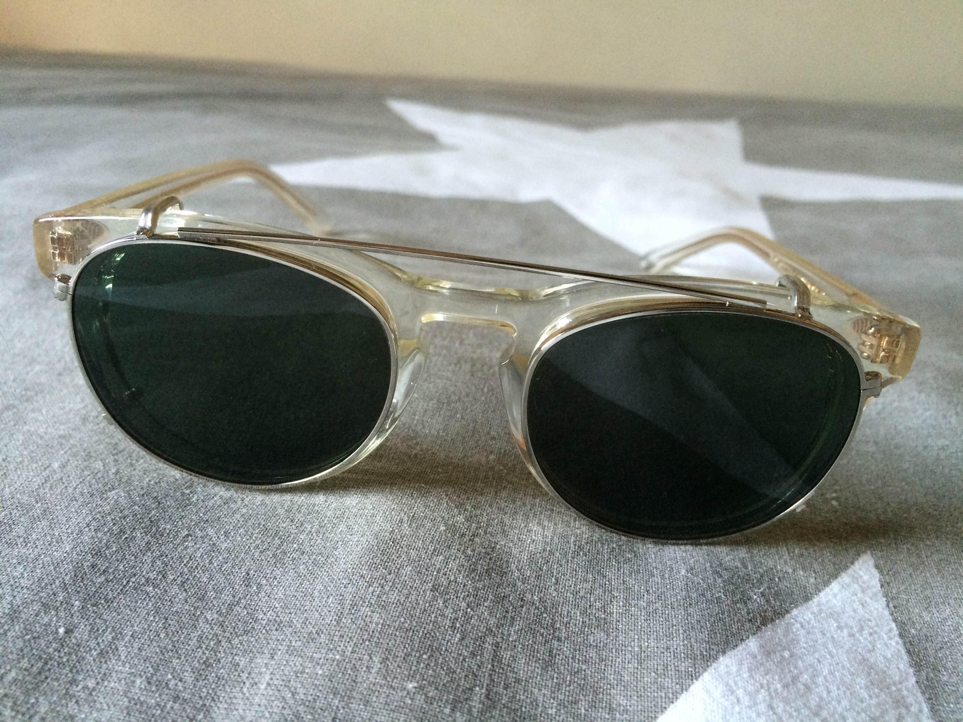 4a67ff956361 Han Kjobenhavn Timeless Champagne Clip-On Sunglasses Size one size ...