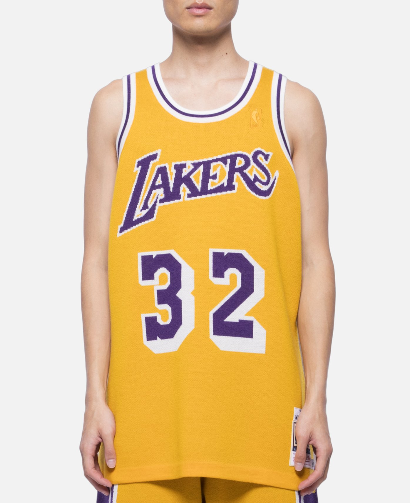 13f394c57 Mitchell   Ness 84-85 Los Angeles Lakers Magic Johnson Wool Knit Basketball  Jersey SS19 Size xl - Sweaters   Knitwear for Sale - Grailed