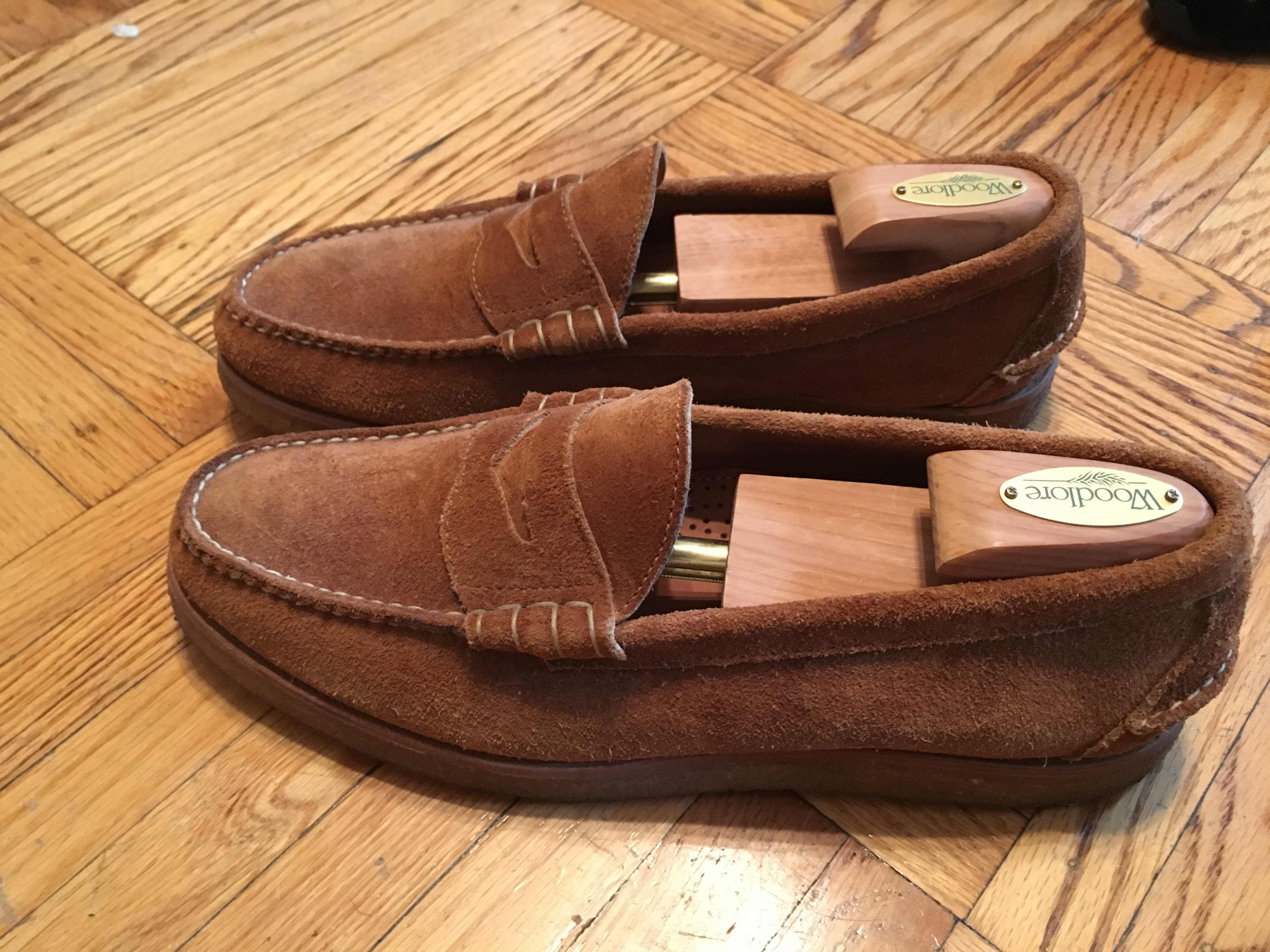 9a21bd44d98 Oak Street Bootmakers BEEFROLL PENNY LOAFER PEANUT SUEDE CREPE SOLE Size 11  - Casual Leather Shoes for Sale - Grailed